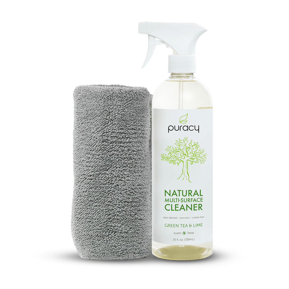 Puracy Natural Multi-Surface Cleaner and Microfiber Towel