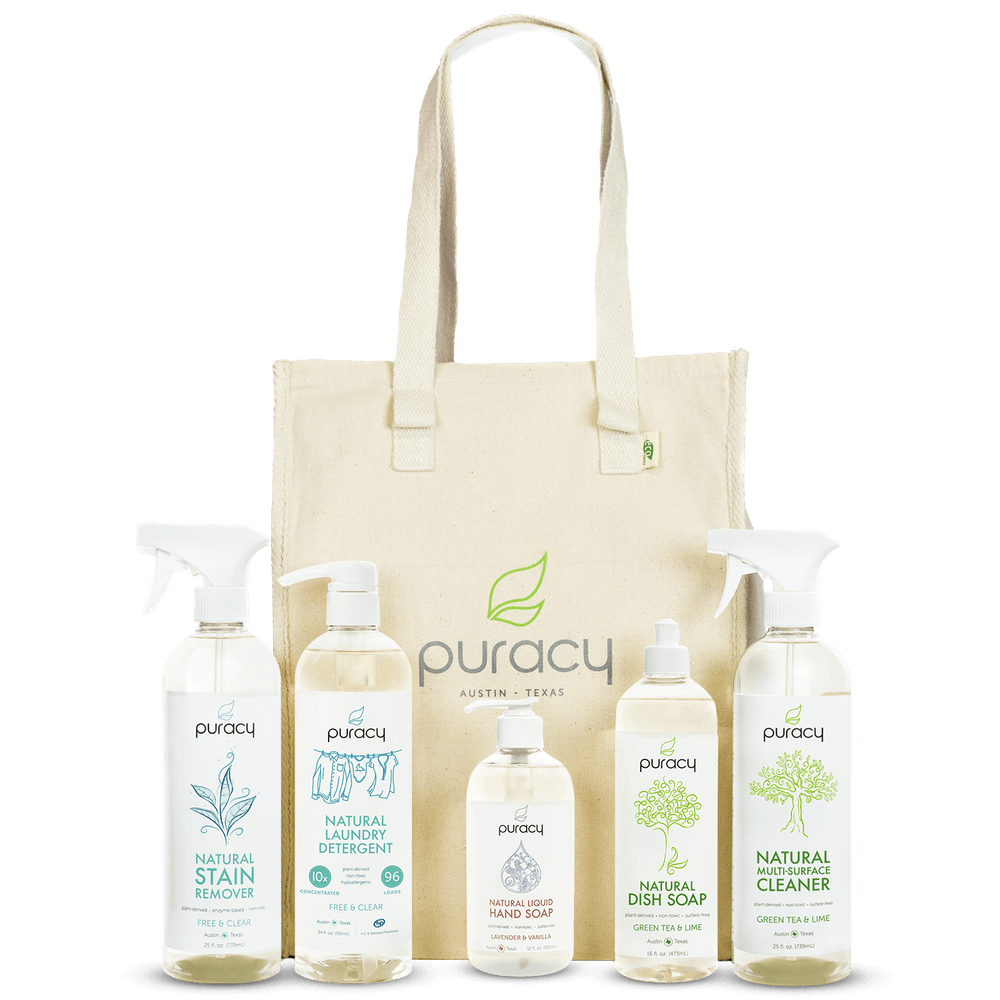 Puracy Natural Tote Bag and Products